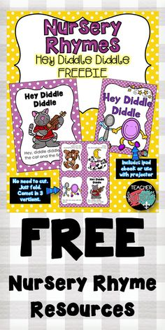 FREE Nursery Rhyme resources.  Printable readers and ebooks.  TeacherKarma.com