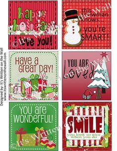 Christmas Lunch Box Printables