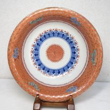 LARGE Antique Imari Plate Butterfly Hand painted Edo Period