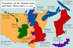 Countries of the British Isles and their Namesakes.