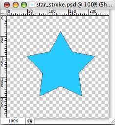 Star shape // stroke to a stroke