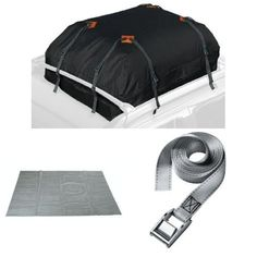 Keeper Cargo Bag, Roof Mat, and Lashing Strap Bundle. For product info go to:  https://www.caraccessoriesonlinemarket.com/keeper-cargo-bag-roof-mat-and-lashing-strap-bundle/