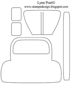Bug card template: VW Bug - Bad Day Card. (Add a steering wheel, side mirrors, headlights and acetate windshield. Cut bumper from silver popcan or foil)