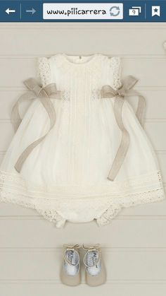 Pili Carrera 15 Choosing baptismal dresses for children is definitely a … Fashion Kids, Little Girl Fashion, Baby Pattern, Christening Gowns, Little Girl Dresses, Baby Sewing, My Baby Girl, Baby Dress, Doll Clothes
