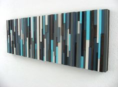 Master Bedroom | Modern Abstract Art Wood Sculpture. $295.00, via Etsy.