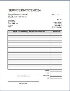 22 Best Free Cleaning Invoice Templates Images Invoice