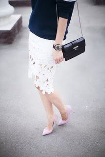 Love this skirt. Chicwish White Flower Cut Out High And Low Pencil Skirt Flower Cut Out, Street Style 2014, White Lace Skirt, Split Skirt, Luxury Wedding Dress, Wedding Dresses, Romantic Lace, Silk Organza, Lace Flowers