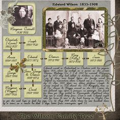 Great heritage scrapbook layout