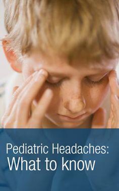 Pediatric headaches: Learn how to help kids with headaches. http://MigraEase.com #migraine #headache #natural