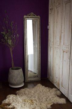 Schuifdeur van oude Franse deurtjes