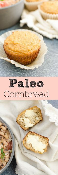 Paleo Coconut Flour Cornbread - a healthy twist on the classic cornbread! Pair it with your favorite paleo chili for the best winter dinner!
