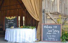 Wedding ceremony barn, wedding décor. Rustic barn wedding and reception venue in Alabama whiteacresfarms.com