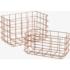 Clissold Set Of 2 Copper Wire Baskets