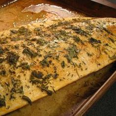 Herbed Salmon - I served this with balsamic mayo with thyme