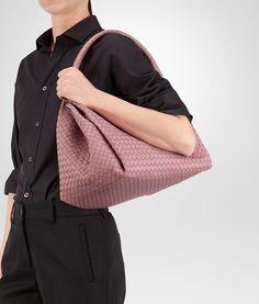 Bottega Veneta® - PARACHUTE BAG IN NEW LIGHT GREY INTRECCIATO NAPPA  4f881af608eda