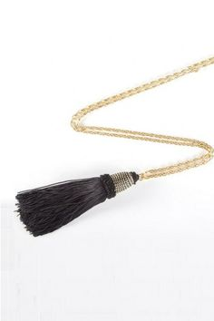 Black Tassel Link Necklace By Hendrikka Waage. #Icelandic #Fashion #Style #Lastashop