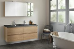 Sanijura Badkamermeubelen - Kies Sani-Dump voor alles in uw badkamer Ikea Bathroom, Bathroom Basin, Bathroom Furniture, Bathroom Ideas, Washroom, Armoire Ikea, Duravit, Clawfoot Bathtub, Small Rooms