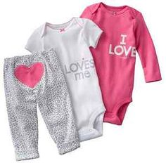 "NWT Carter/'s Girls 3-Piece /""I LOVE DADDY/"" Pajama Set 12 Mos 18 Mos"