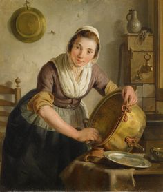 Painting: Adriaan de Lelie, in US public domain due to age Amsterdam, Historical Clothing, Beautiful Paintings, Female Art, 18th Century, Catholic, My Arts, Illustration, Artwork