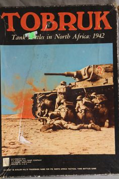 WW2 Tobruk Tank Battle Game  Avalon Hill Bookcase by GoodUsedGoods