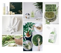"""green tea skincare"" by a-s-a-p ❤ liked on Polyvore featuring beauty, Pottery Barn, Youth To The People, Herbivore and GreenTeaBeauty"