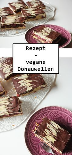 Rezept: vegane Donauwellen Recipe for vegan Danube waves Rezepte Vegan Baking Recipes, Healthy Dessert Recipes, Health Desserts, Healthy Baking, Brunch Recipes, Vegetarian Recipes, Bolo Vegan, Food Dog, Desserts Sains