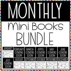 This Monthly Mini Book Bundle is perfect for prekindergarten and kindergarten beginner readers. This download includes books for EACH month. Each pack includes five mini-books that are simple to read with predictable text and high picture support. Great for kinder reading centers and language arts practice. #kindergarten #KindergartenReading #Preschool #PreschoolReading