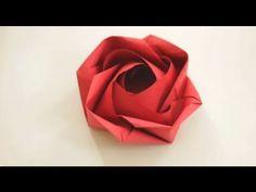 Origami Rose, by Evi Binzinger.  http://www.kunstkauz.de/    Video by Tadashi Mori  http://www.youtube.com/tadashimori  http://facebook.com/tadashiorigami