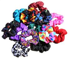 I loved my long hair and had a huge collection of scrunchies! I sure had some ugly ones, too! Haha
