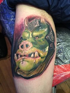 Gamorrean guard I done at the Scottish tattoo convention.