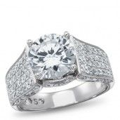 Passion Stone, 14K White Gold Bridal Semi Mount, 1.00 ctw.