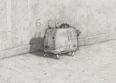 Home-made wombat, pencil, A4. Shaun Tan