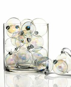 Kurt Adler Iridescent Glass Balls from Holiday Lane - Macy's
