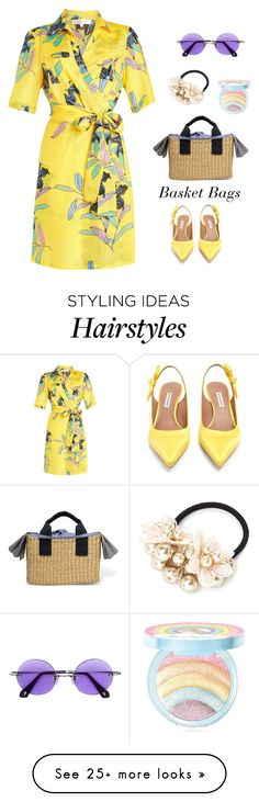 """The Last Straw: Basket Bags"" by polychampion-805 on Polyvore featuring Diane Von Furstenberg, Muuñ, Tabitha Simmons, Too Faced Cosmetics and basketbags"