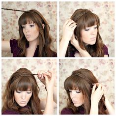 Braided Headband. Super easy & can be dressy or casual as you can do curly, straight, or a bun. I'm going to do this often.