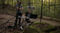 Process video : Projection mapping in nature in the outdoors.