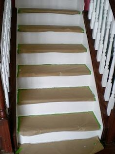 Remodelaholic » Blog Archive Under $100 Carpeted Stair To Wooden Tread Makeover DIY » Remodelaholic