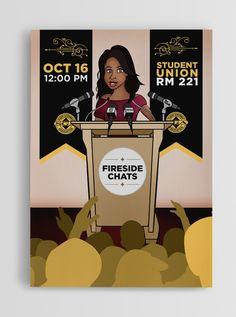 Fireside Chats Poster by Johanan Colon  johancolon.com