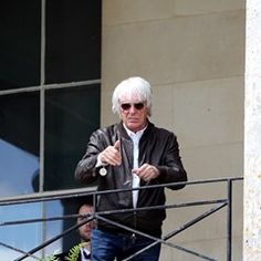 Bernie Ecclestone gives a thumbs up during the Goodwood Festival of Speed