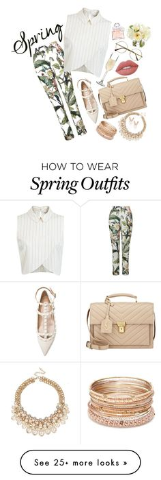 """""""Spring Outfit #19"""" by kita0996 on Polyvore featuring Topshop, Miss Selfridge, Retrò, BarLuxe, Yves Saint Laurent, Red Camel, Aamaya by priyanka, Lime Crime, Guerlain and Diane James"""