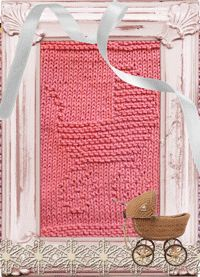 Knitted Washcloth Baby Carriage