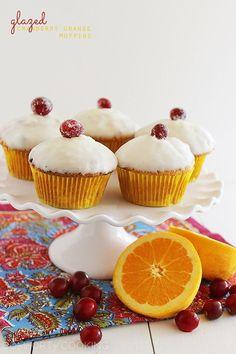 Glazed Cranberry Orange Muffins http://www.thecomfortofcooking.com/2013/11/glazed-cranberry-orange-muffins.html