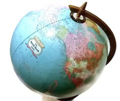 Vintage Cram 12 Inch Globe 1984 by World Book by LootByLouise, $43.95