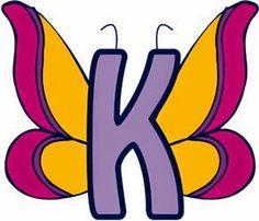Alfabetos Lindos: Alfabeto mariposa borboleta colorida!