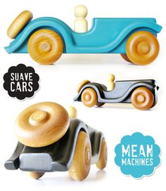 Handmade Wooden Toy Cars - Roadsters - Hill Country Woodcraft