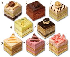 CLASSIC Petits Fours - I've always been fascinated by the look of petits fours. I love when they are so prettily designed and layered with interesting textures and flavor profiles. Cute, whimsical tables/chairs made to look like large, ornate and beautiful petits fours would be a great idea...