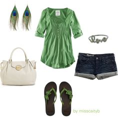 """Green"" by misscaityb on Polyvore"