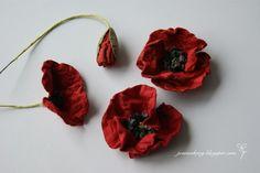 W Kartkowym Zaciszu: How to make poppy flower