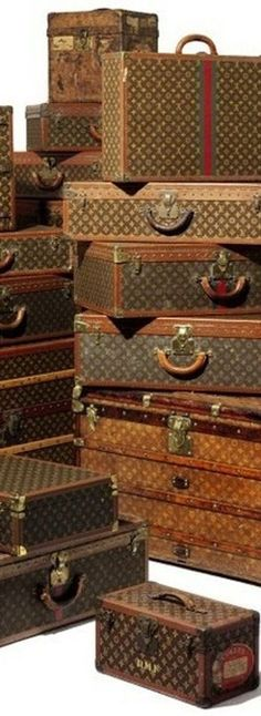 Vintage Louis Vuitton Luggage Collection - via Modern Country Style: The Vintage Suitcase: A Homage