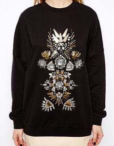 Love Moschino Woman Embellished Ribbed-knit Mini Dress Black Size 42 Love Moschino qPE51OIadb